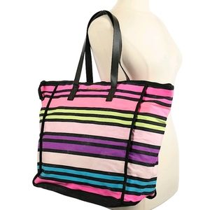 💜Victoria's Secret Striped Tote